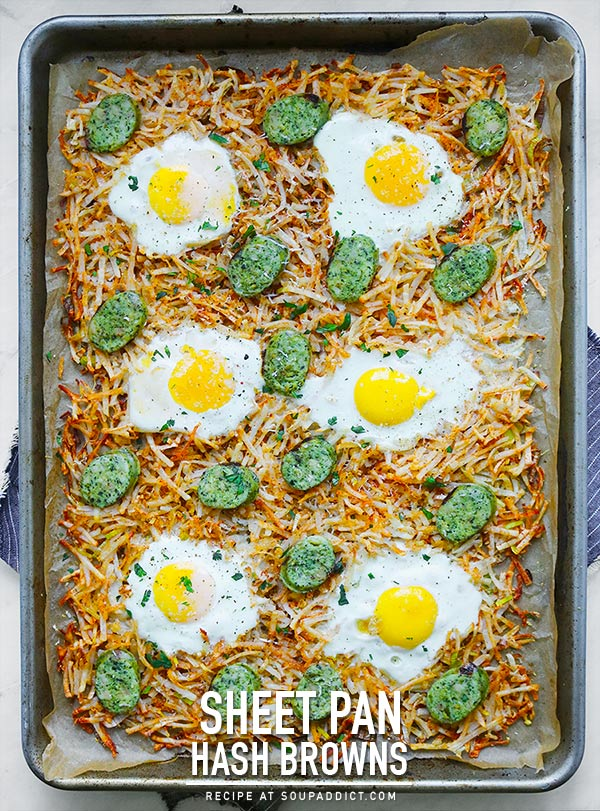 Sheet Pan Hash Browns from SoupAddict.com