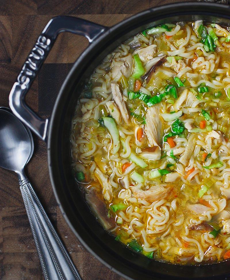 Thai Ramen Noodle Chicken Soup from SoupAddict.com