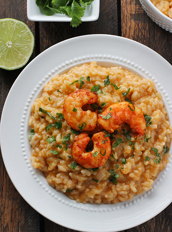 Oven Baked Thai Risotto with Roasted Shrimp from SoupAddict.com