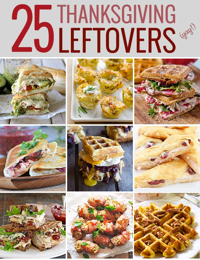 25 Amazing Thanksgiving Leftovers Recipes from SoupAddict.com.  Fun and delicious recipes to use up all of those Thanksgiving leftovers!