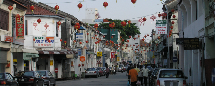 China Street, George Town Penang. Chinese New Year Decoration View 1A. Image Size:750x300px