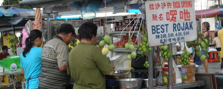 WordPress Templates: Images of Hawker Food for Rojak Store, Gurney Drive, George Town, Penang. Image Size:750x300px