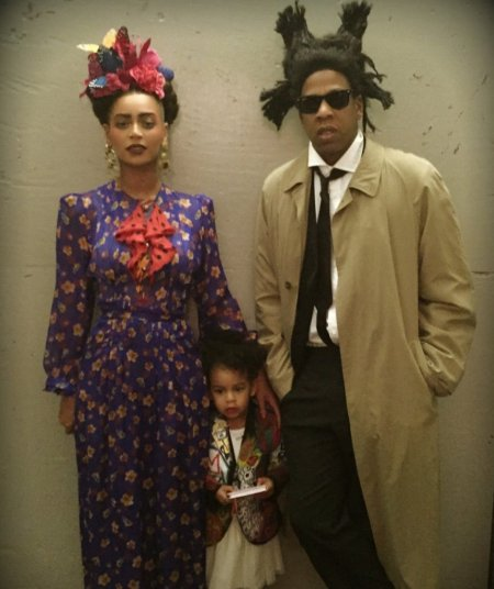 Jay Z and Beyonc Dressed Up as JeanMichel Basquiat and Frida Kahlo for Halloween