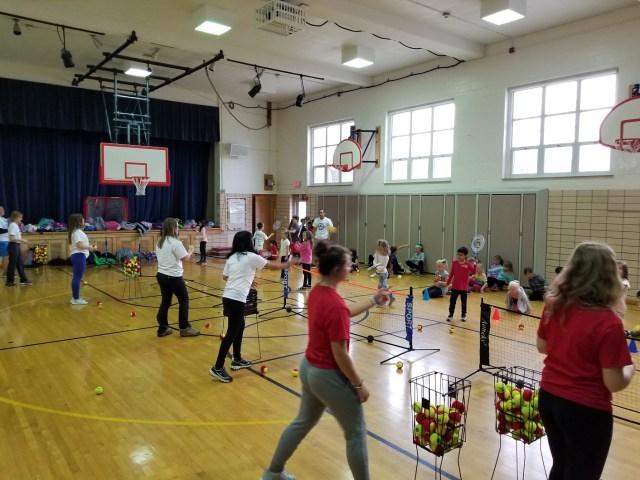 Elementary Tennis Class