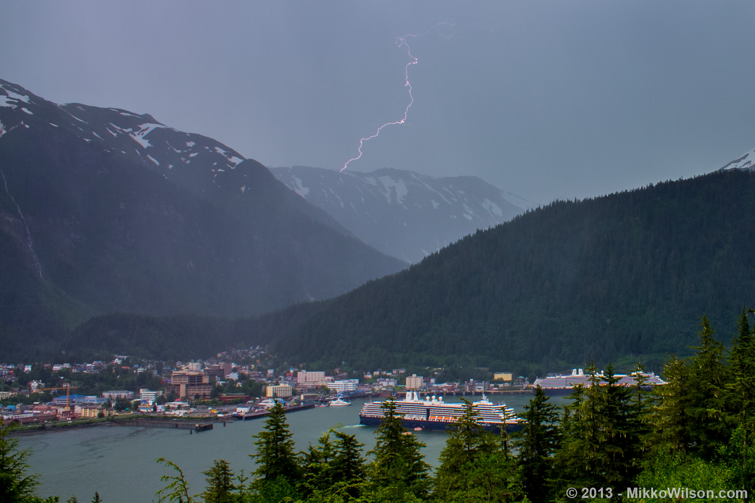 Rare thunderstorms move through Southeast Alaska