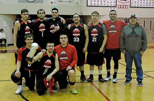 B-Bracket runners-up Hoonah at the Juneau Lions Club 71st Annual Gold Medal Basketball Tournament at Juneau-Douglas High School on Saturday. (Photo courtesy Klas Stolpe)