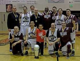Hoonah won the Masters Bracket of the Juneau Lions Club 71st Annual Gold Medal Basketball Tournament at Juneau-Douglas High School on Saturday, 80-78 over Kake. (Photo courtesy Klas Stolpe)