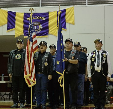 Opening ceremonies at the Juneau Lions Club 71st Annual Gold Medal Basketball Tournament. (Photo courtesy Klas Stolpe)