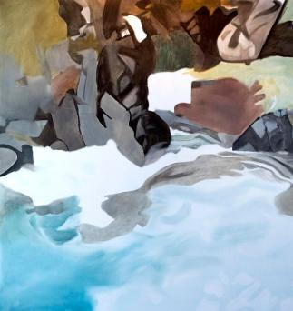 """""""Ebner Falls II"""" by Crystal Cudsworth. (Image courtesy of the Juneau-Douglas City Museum)"""