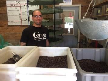 David Thomas at Sentinel Coffee in Gustavus in June of 2018. (Photo by Scott Burton/KTOO)