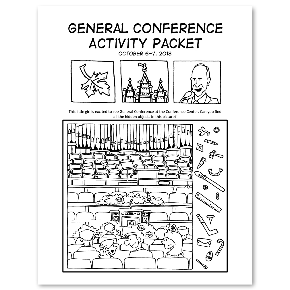 October 2018 General Conference Activity Packet Printable