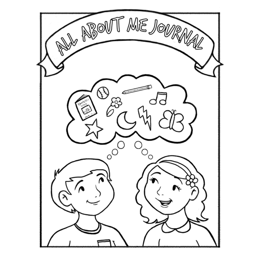 All About Me Children's Coloring Journal in Activity
