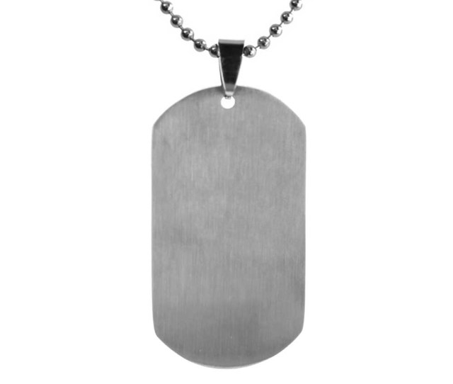 Customizable Dog Tag Necklace Silver Ldp Dtg
