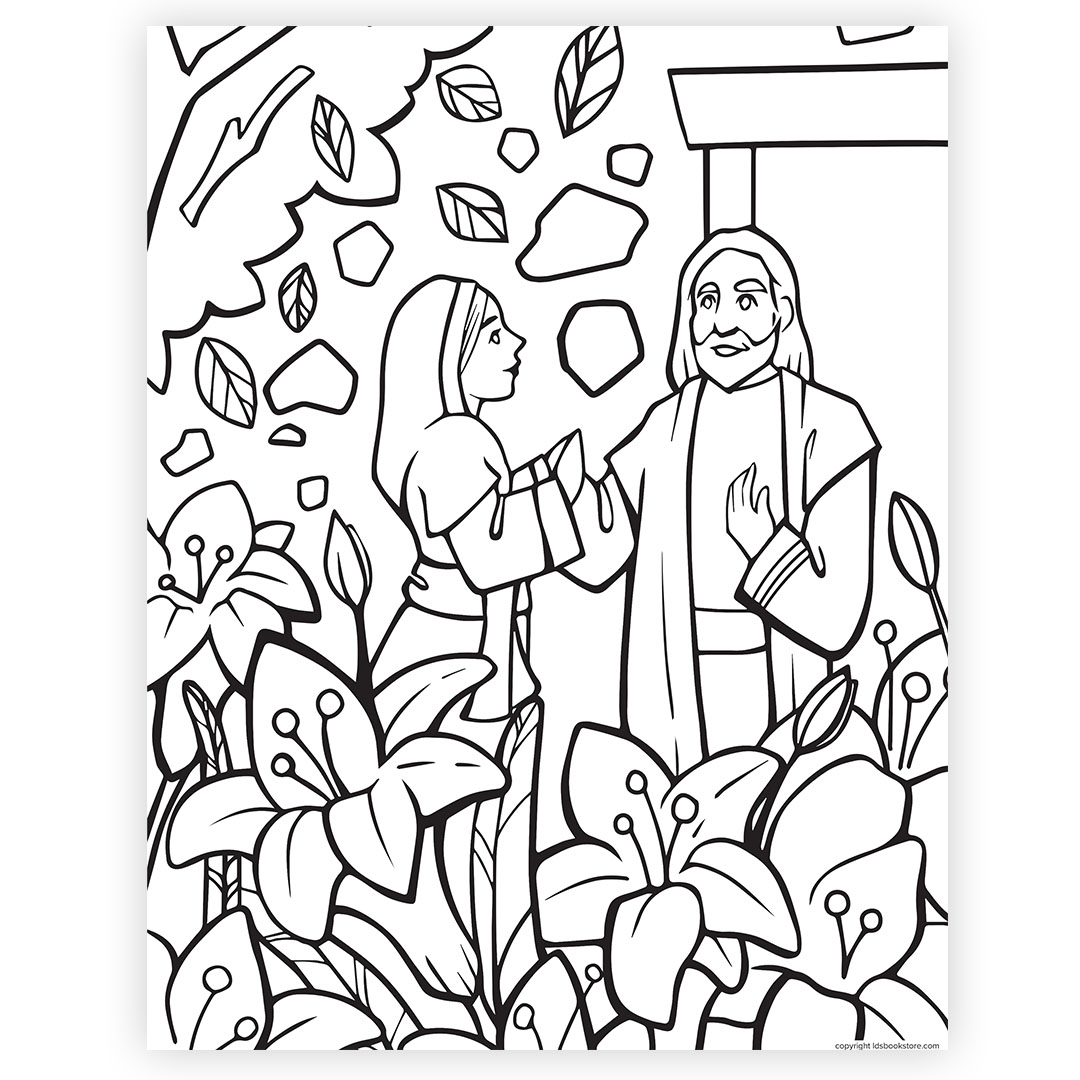 The Garden Tomb Easter Coloring Page