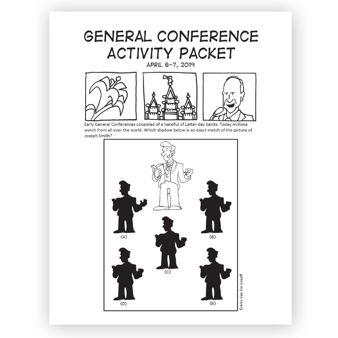 April 2019 General Conference Activity Packet Printable