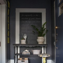 Ideas For Decorating A Large Wall In Living Room Grey Tile Flooring My Home Tour: The Entryway - Lia Griffith