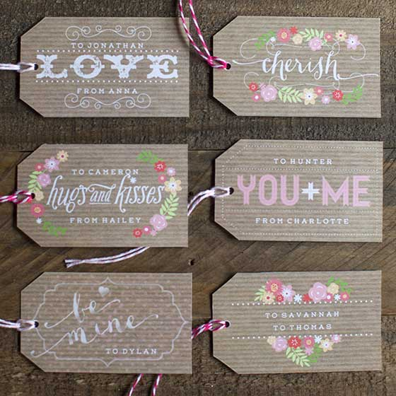 Printable Valentines Day Gift Tags