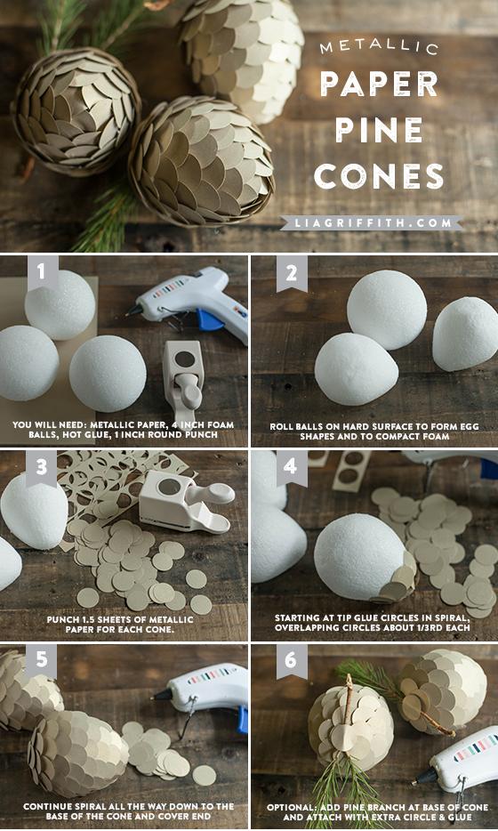 DIY Woodland Paper Pine Cones