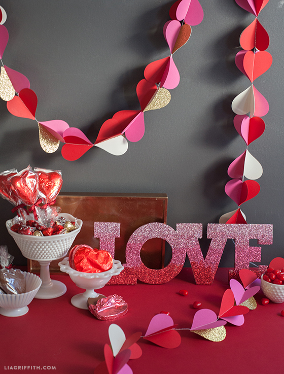 Heart Garland For Valentines Day Decor Lia Griffith