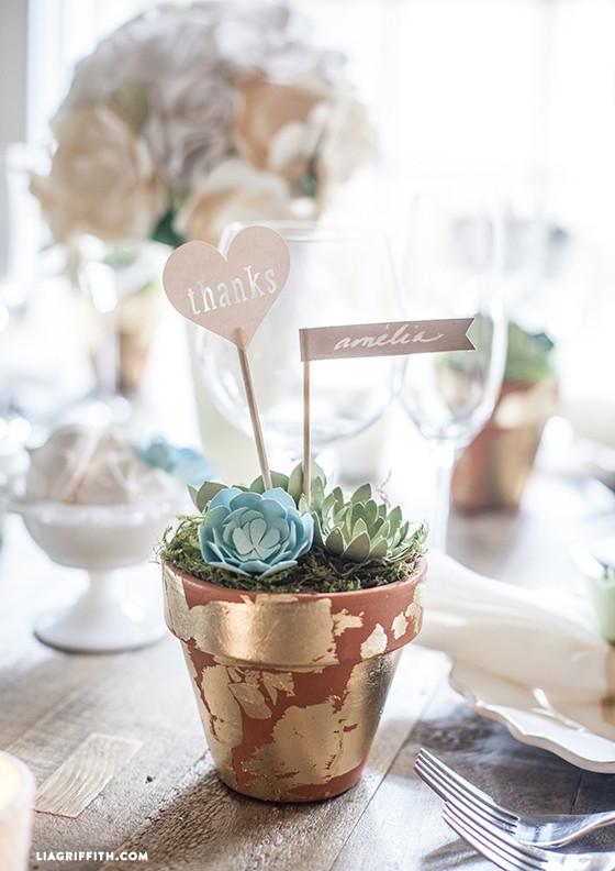 DIY Wedding Favors Paper Succulent Pots  Lia Griffith