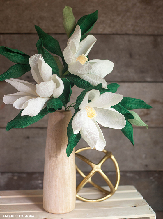 DIY Paper Magnolia Flower Lia Griffith