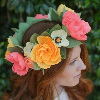DIY Crepe Paper Flower Headband - Lia Griffith