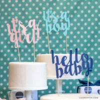 Baby Shower Cake Toppers - Lia Griffith