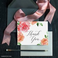 DIY watercolor thank you cards  Craftbnb