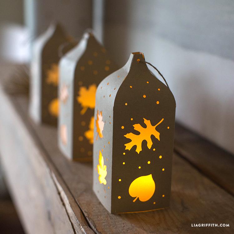 Fall Paper Cut Lantern Lia Griffith