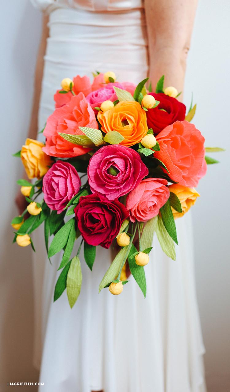flower arrangements with tissue paper