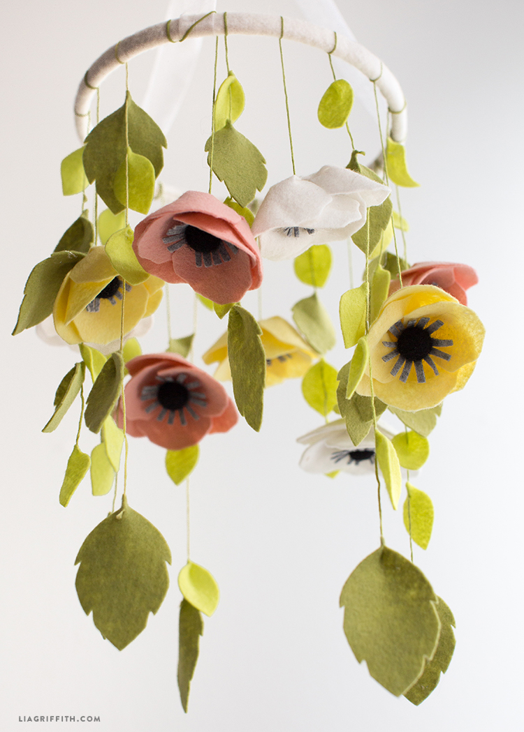 Felt Flower Mobile Lia Griffith
