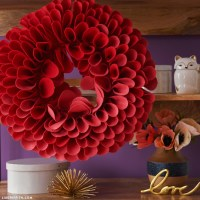 Giant Felt Dahlia Wall Art