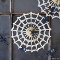 Accordion Spider Web Decorations