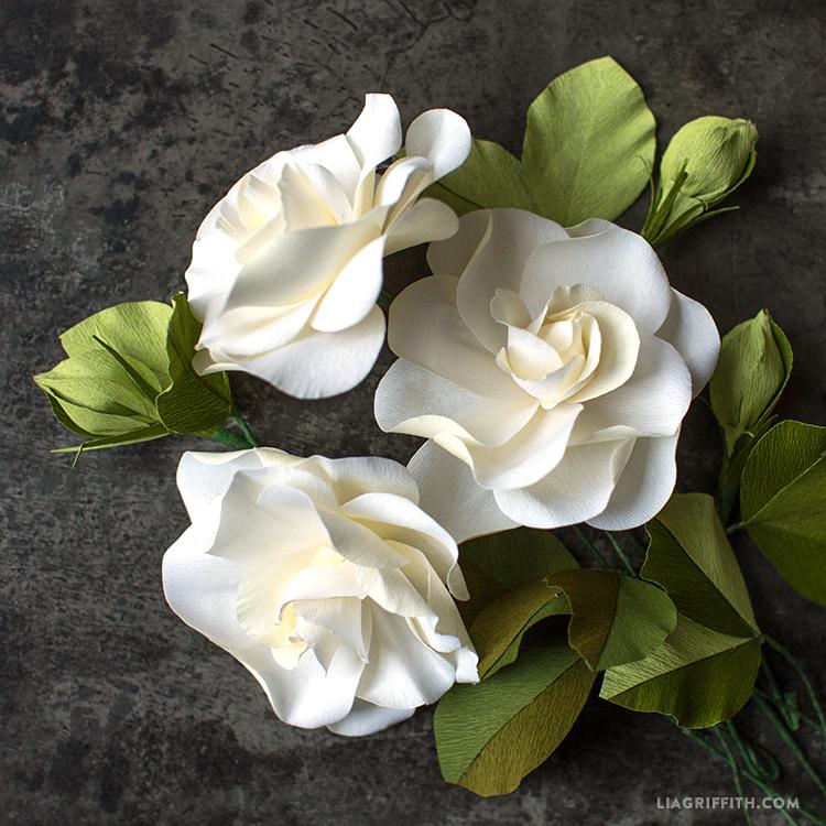 Crepe Paper Flower Templates