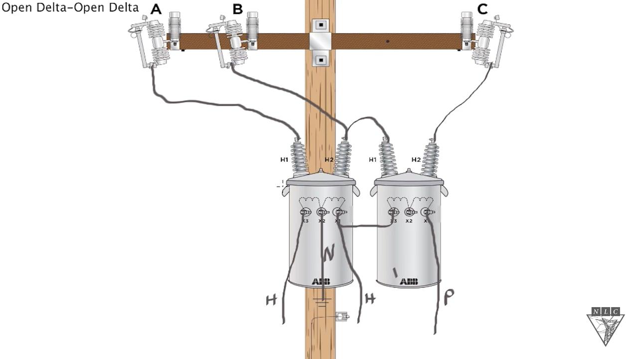 open delta wiring diagram