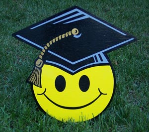 Graduation Smileys from Greetings by the Yard, Cards by the Yard, Flamingo Surprise