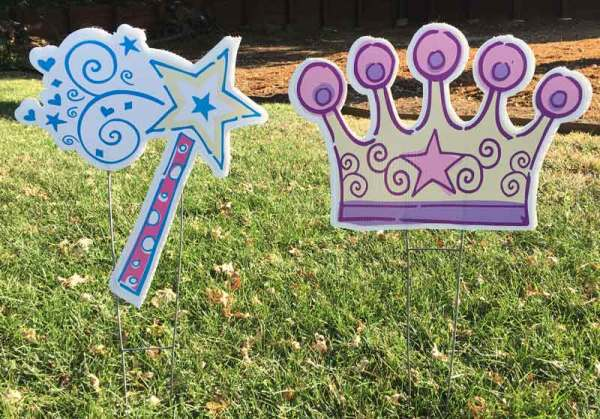 Princess decorations, Greetings by the Yard, Card by the Yard, Flamingo Surprise