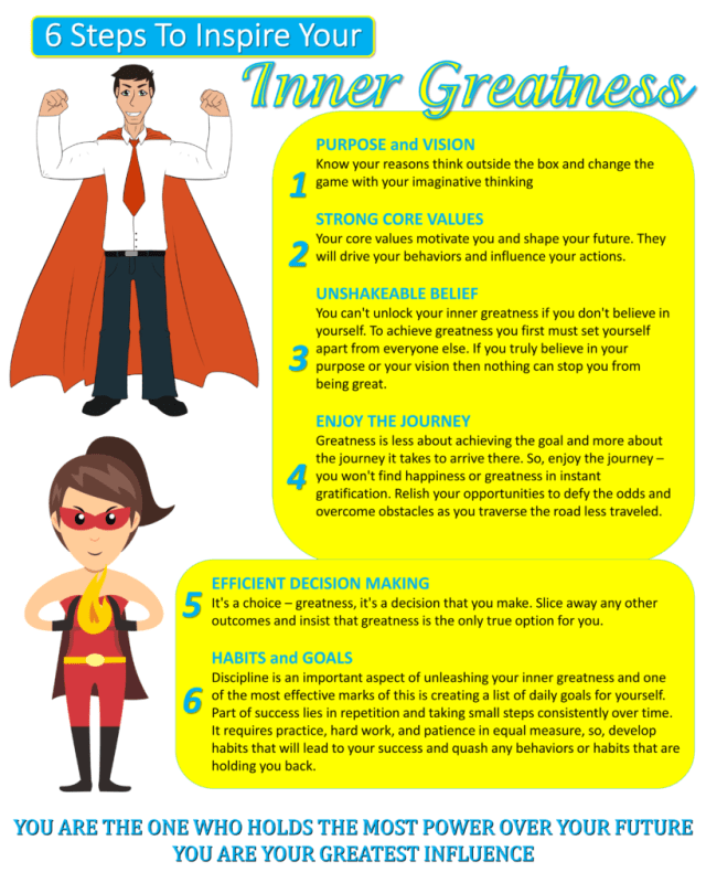 How To Inspire Your Inner Greatness - Infographic