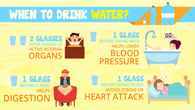 When And Why To Drink Water - Infographic