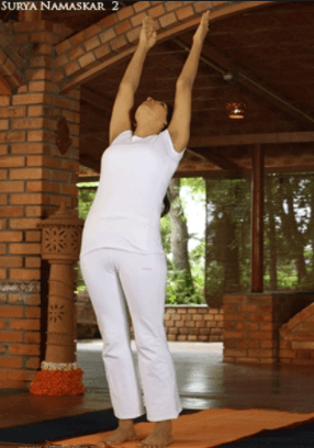 Hastauttanasana (Raised Arms pose)