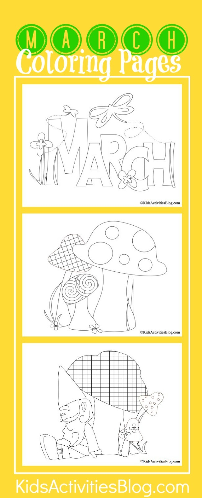 3 springy march coloring pages kids kids activities, i love mom coloring pages printable
