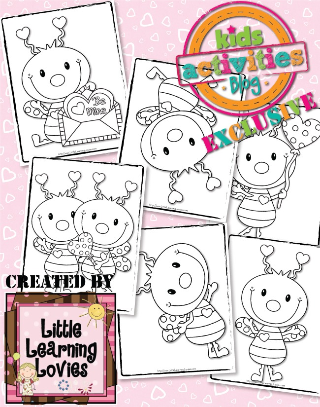 Exclusive love bug coloring pages free kids activities, i love mom coloring page