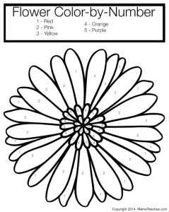 Friday Freebie: Flower Color By Number Coloring Page