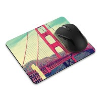 Design Rectangle Rubber Mousepad Mice Pad Mat For Laptop