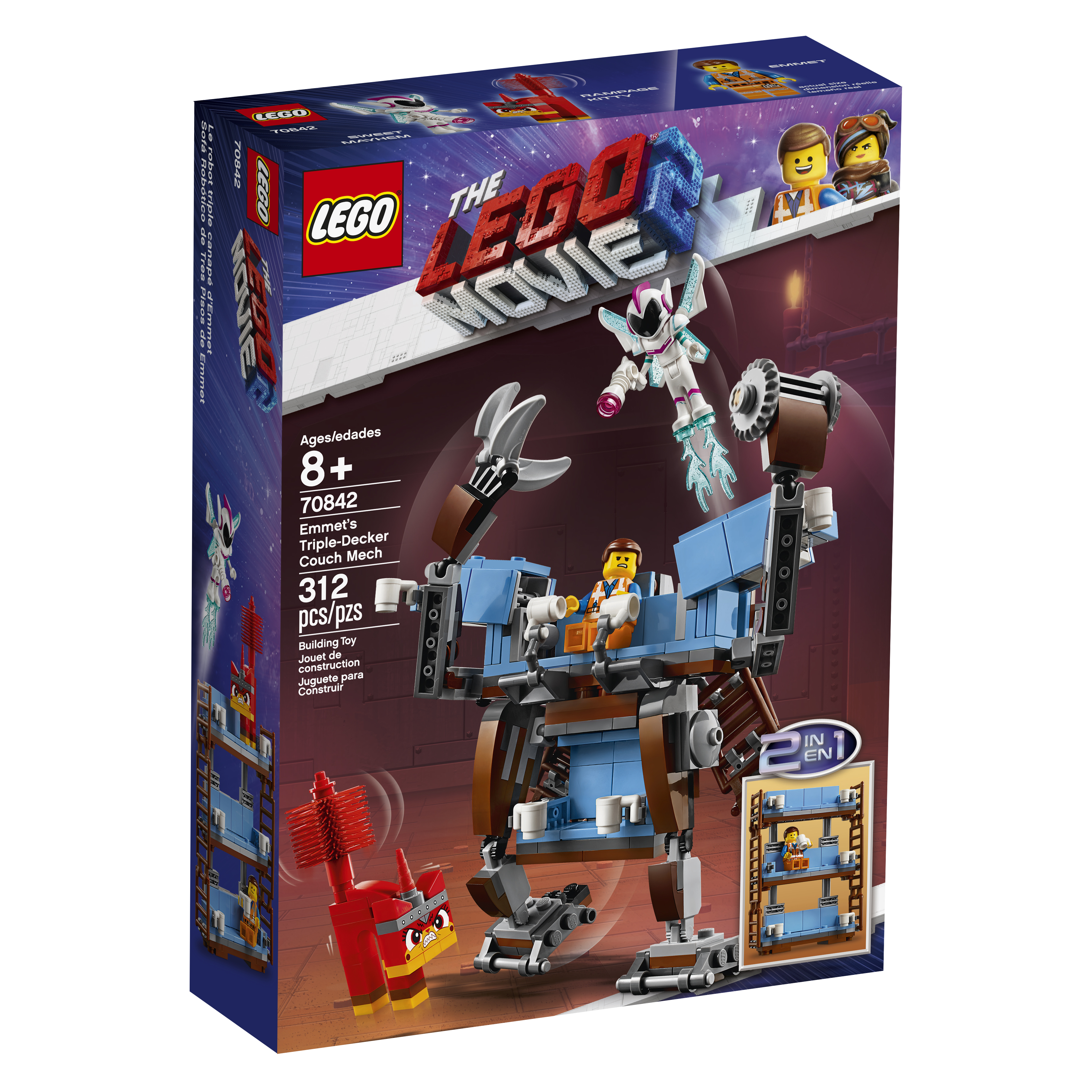 how to make a simple lego sofa contemporary round 70842 movie 2 emmet s triple decker couch mech box the published february 12 2019 at 3616 in three new