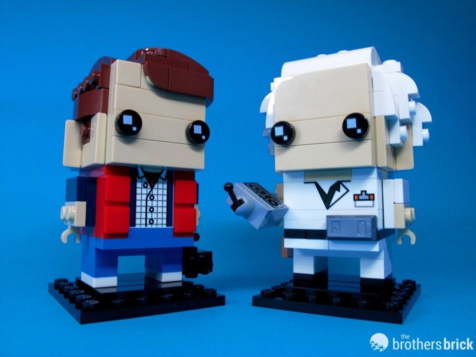 41611 Back To the Future BrickHeadz Doc and Marty Duo