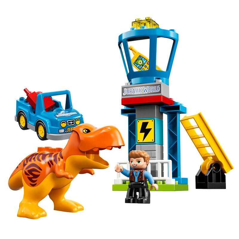 LEGO Jurassic World-10880-Duplo T. rex Tower-2