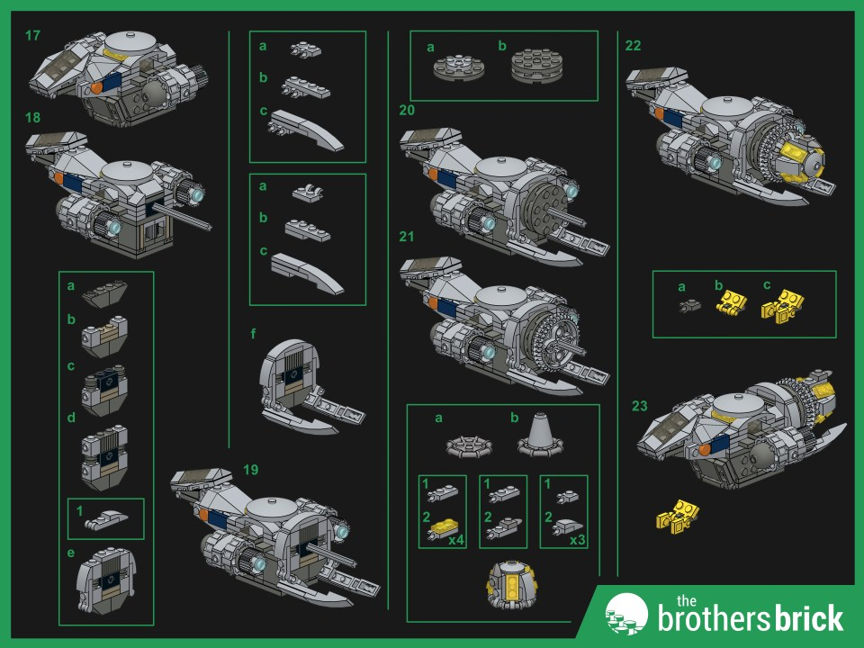 Custom LEGO Outlaw Spaceship instructions (2)