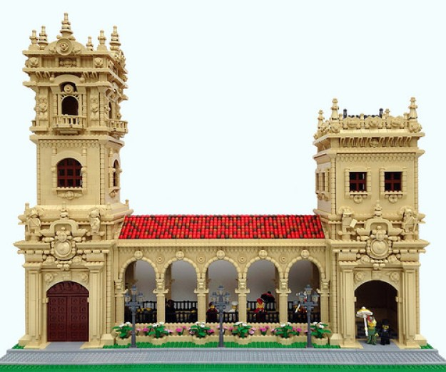Balboa Park towers and colonnade