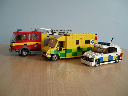 LEGO emergency vehicles